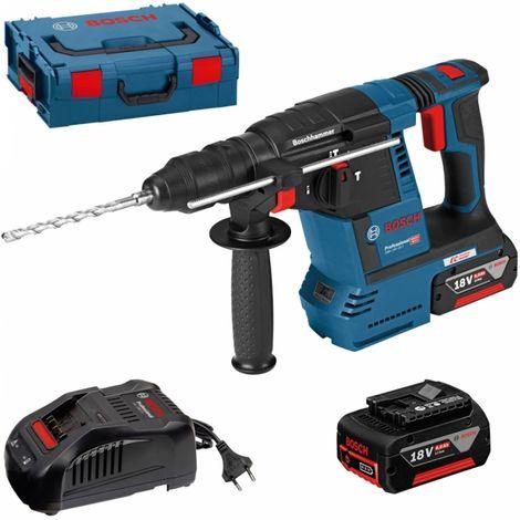 Perforateur sans-fil Bosch GBH 18V-26F + 2 batteries 6,0 Ah + chargeur 0611910002