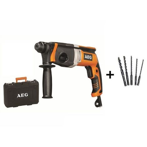 Perforateur SDS+ AEG PRO 2.5 joules BH22E + 5 FORETS OFFERT