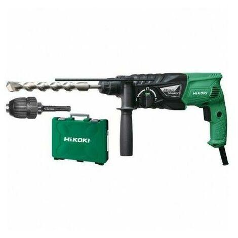 Perforateur SDS+ perçage et burinage - 24 mm / 730 W / 2,7 Joule HITACHI/HIKOKI + Mandrin en malette – DH24PHZ