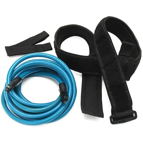 Pergamano Rate Adulte Enfant 4 m Natation Bungee Exerciser Laisse Corde d'entraînement Rope Hip Sangle de Sécurité Nage