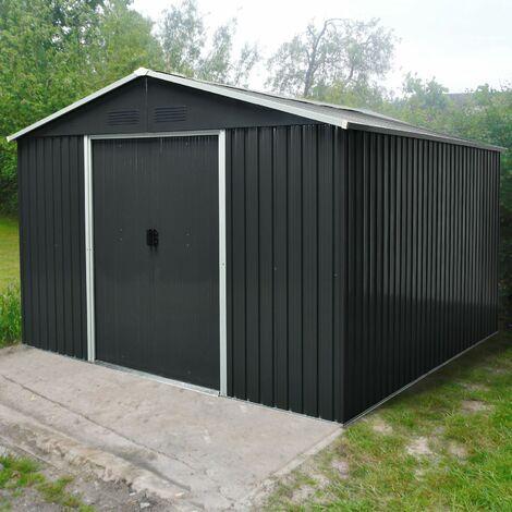 """Pergart Gerätehaus """"Dresden II 1012"""" schwarz 10,33 m²"""