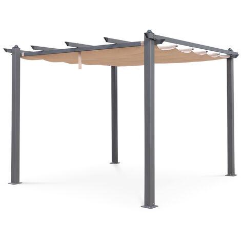 Pergola, Aluminio, Beige, 3x3 m | Condate3X3