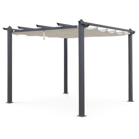 Pergola, Aluminio, Crudo, 3x3 m | Condate3X3