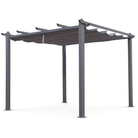 Pergola, Aluminio, Gris, 3x3 m | Condate3X3