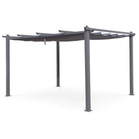 Pergola, Aluminio, Gris, 3x4 m | Condate3X4