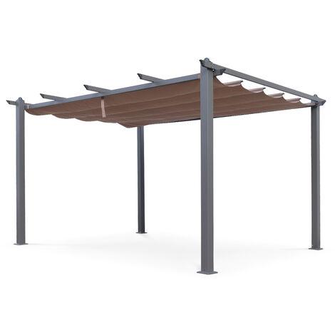Pergola, Aluminio, Marrón, 3x4 m | Condate3X4