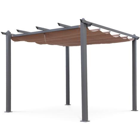 Pergola, Aluminio, Marron Pardo, 3x3 m | Condate3X3