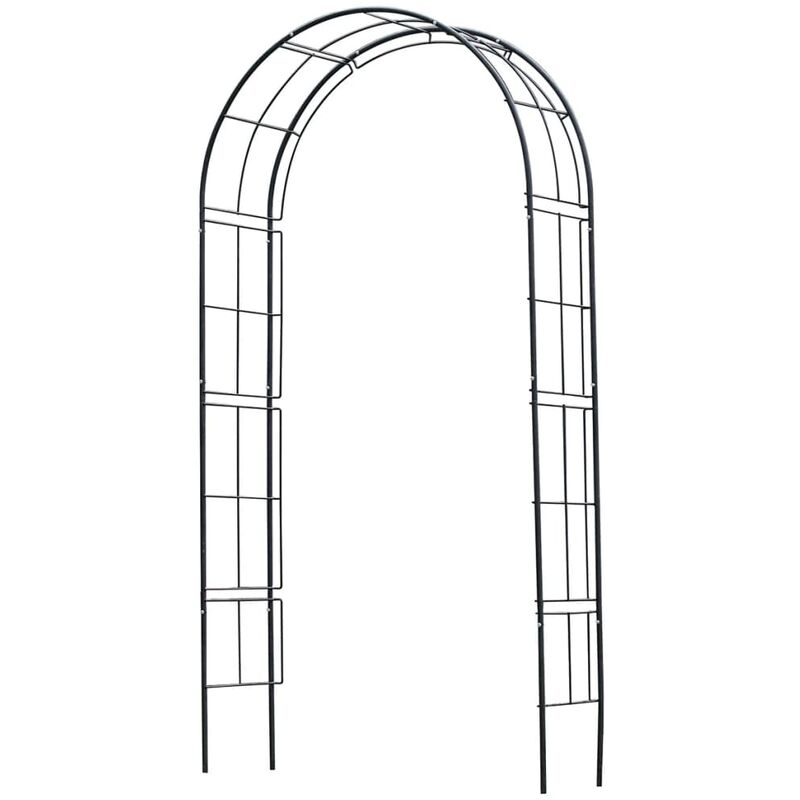 Arche de jardin en métal noir 6040802 - Nature