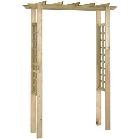 Pérgola/Arco de rosas madera impregnada 150x50x200 cm