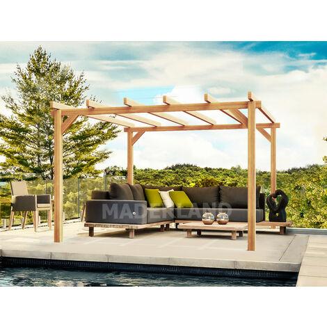 """main image of """"Pérgola de madera modelo Linares Plimfers 600x300 cm"""""""