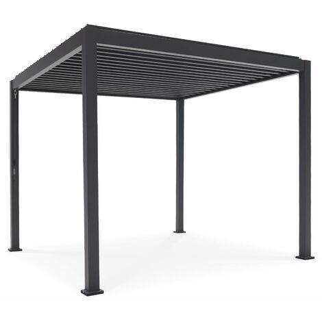 Pergola Bioclimatique gris anthracite – Triomphe – 300x300cm, aluminium, à lames orientables