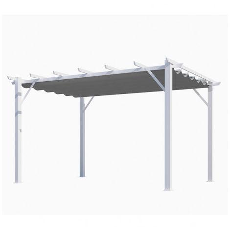 Pergola blanche 12 m² - longueur : 3 m