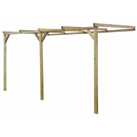 Pérgola cobertizo de madera 2x4x2,2 m