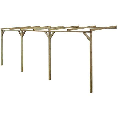 Pérgola cobertizo de madera 2x6x2,2 m