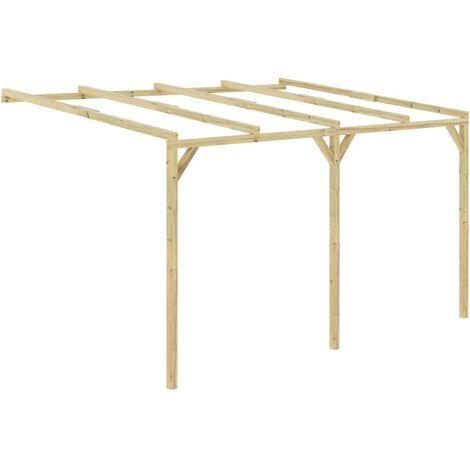 "main image of ""Pérgola cobertizo de madera 4x3x2,1 m"""