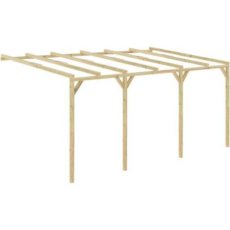 Pérgola cobertizo de madera 5x3x2,1 m