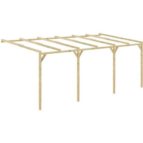 Pérgola cobertizo de madera 6x3x2,1 m