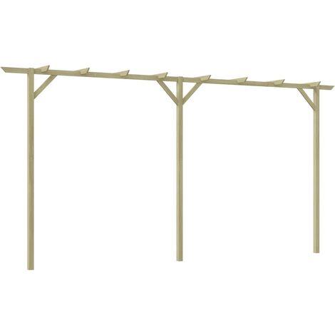 Pérgola de jardín de madera 200x40x205 cm