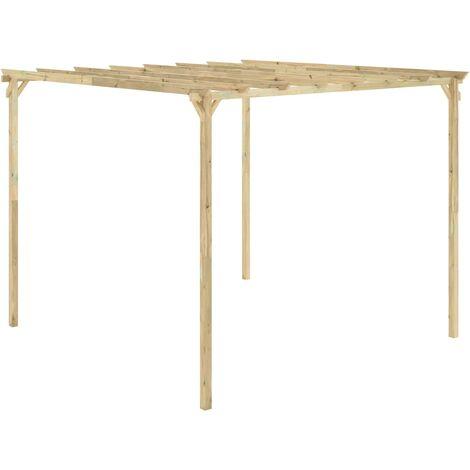Pérgola de jardín de madera de pino impregnada 294x294x220 cm
