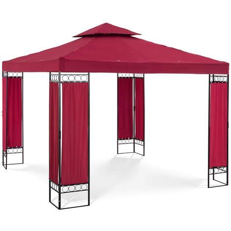 Pergola De Jardin Terrasse En Kit Toile 160g/m2 Uniprodo Taupe