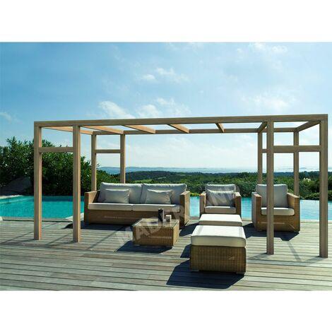 Pergola de madera modelo Granada Plimfers 500x400 cm