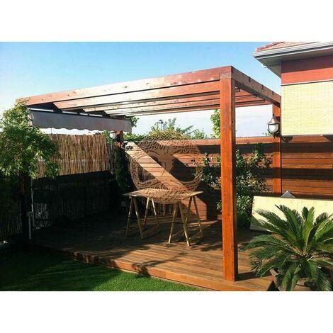 Pergola de madera modelo Santander Plimfers 400x500 cm
