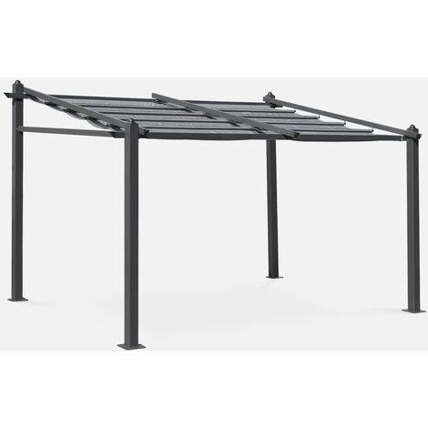 Pergola de pared, Aluminio, Gris, 3x4 m | Murum 3X4