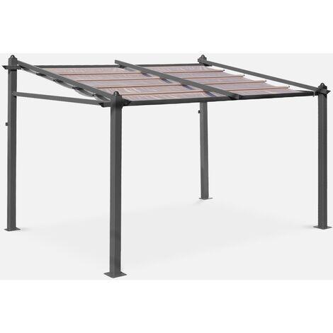 Pergola de pared, Aluminio, Marron, 3x4 m | Murum 3X4
