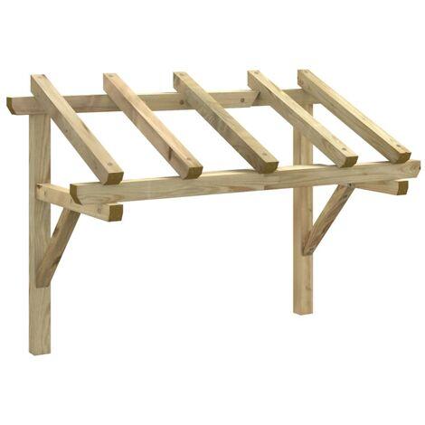 Pérgola de puerta de madera maciza de pino 150x100x160 cm