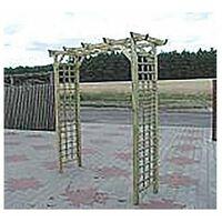 Pergola Double Droite Sections 6x45 Dim210x72x210