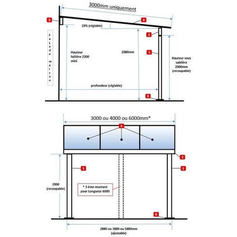 pergola en aluminium top prix standard sans goutti re. Black Bedroom Furniture Sets. Home Design Ideas
