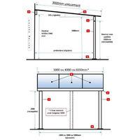 Pergola en aluminium Grise TOP PRIX sans gouttière - plusieurs largeurs disponibles