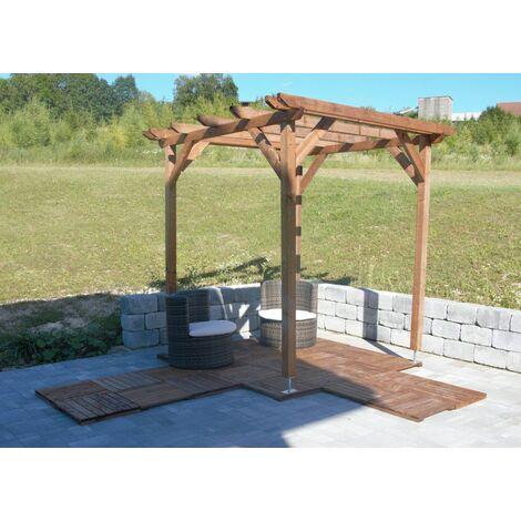 Pergola en bois massif | marron | 2.3 x 2.3 m - tonnelle d'été durable