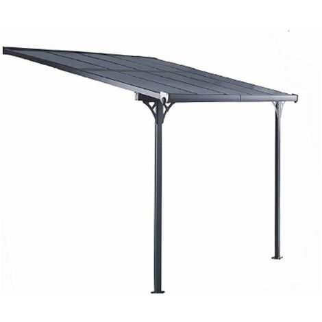 Pergola Gardiun Elliot - 8 m² 313x254x220/260 cm Aluminium et Polycarbonate