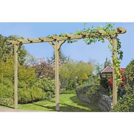 Beau Pergola Garten Kiefer Kdi 9x9x450cm