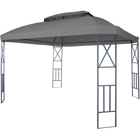 Pergola HHG-610, pavillon de jardin avec moustiquaire, 3,6x3m