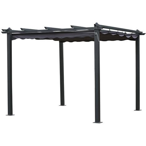 Pergola in alluminio MONICA - 3 x 3 x H.2.2 m - Grigio