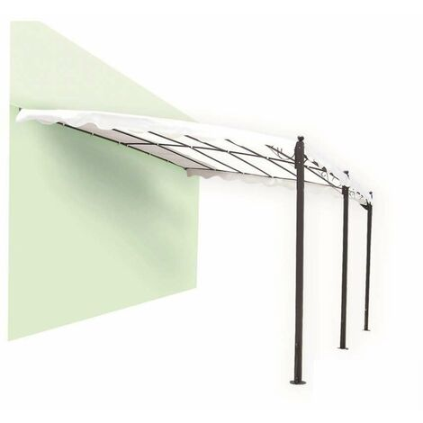 Pergola in Ferro con Telo Bianco 3 x 4 m