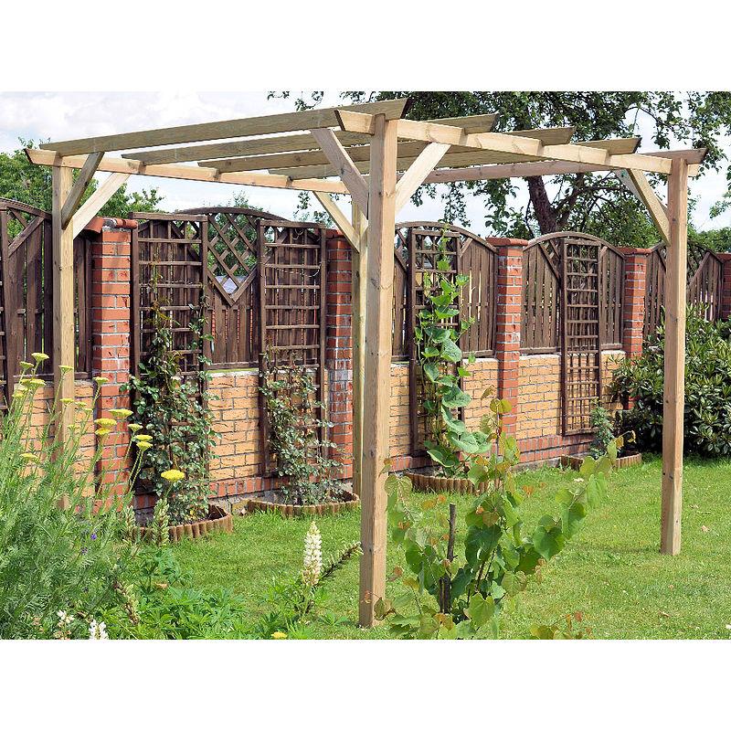 Pergola in legno 3x3 gazebo da giardino tettoia pergolato copertura