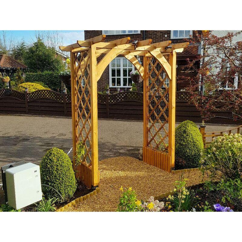 Pergola Jasmine Lattice Trellis Arch Wooden Furniture Garden Plant Frame