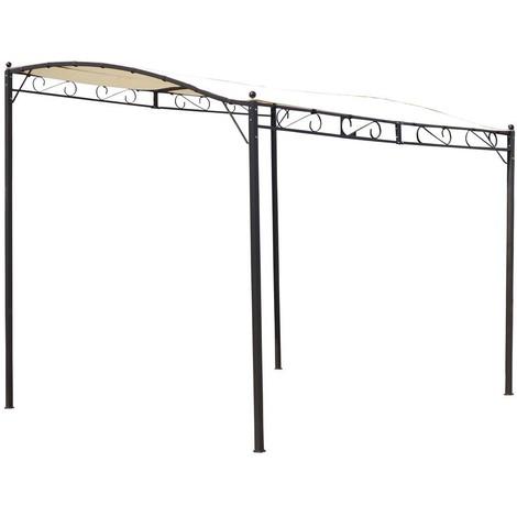Pergola LISA beige e acciaio - 3 x 2.5 x 2/2.5 m