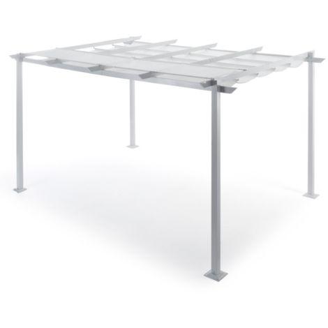 Pergola Nizza 4x3 m en aluminium blanc   Aluminium