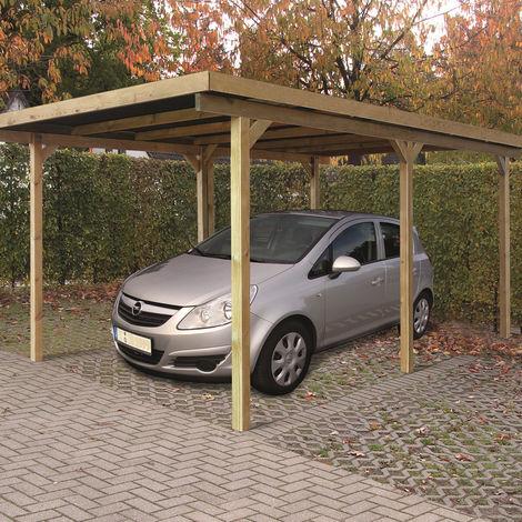 Pergola ONLY in legno impregnato in autoclave 300x500 cm - Copertura inclusa