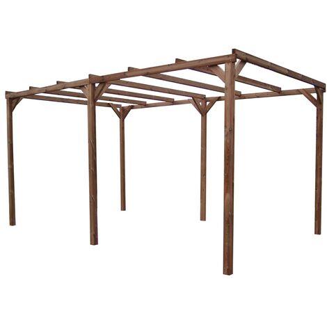 Pergola THONON en bois thermo chauffé sans couverture 14,80 m²