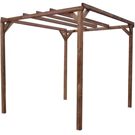 Pergola THONON en bois thermo chauffé sans couverture 8,88 m²