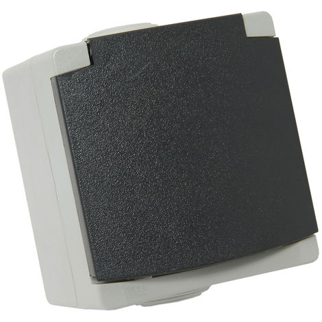 PERLE Enchufe schuko IP65 Gris