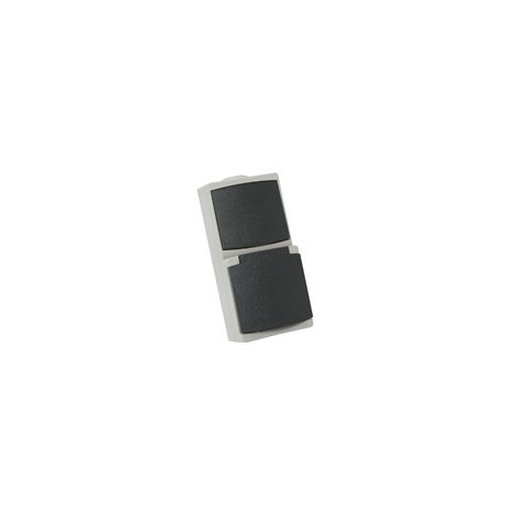 Perle prise 2P+T 10/16a + inter gris IP65 - Debflex