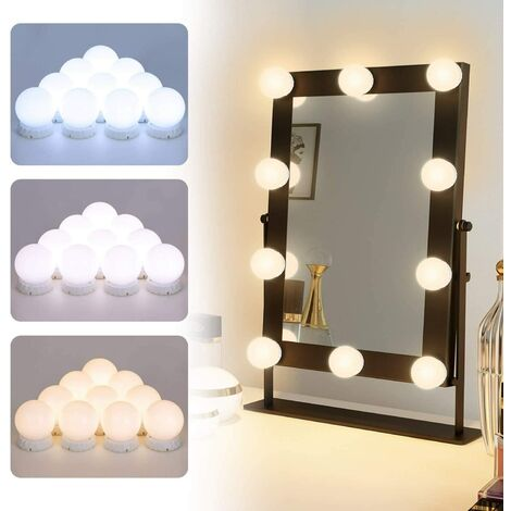 Perle rare 10 LED Dimmable Mirror Makeup Mirror Make-up table makeup