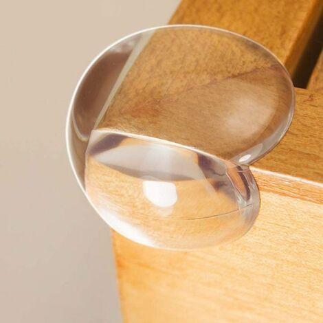 Perle rare 24 pièces de table d'angle anti-collision transparente pour enfants table basse coin en verre pour bébé protection anti-collision boule d'angle anti-collision transparente