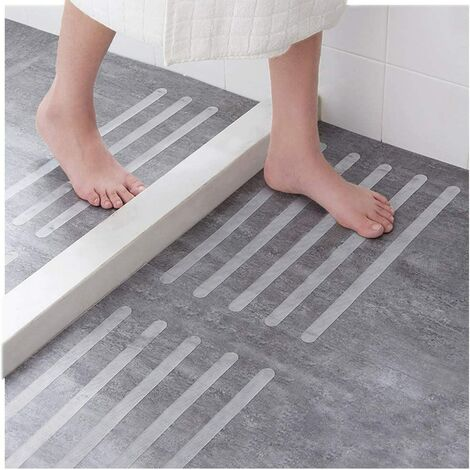 Perle rare 30 pièces d'autocollants antidérapants autocollants de douche ceintures de sécurité de salle de bain autocollants transparents auto-adhésifs antidérapants pour baignoire